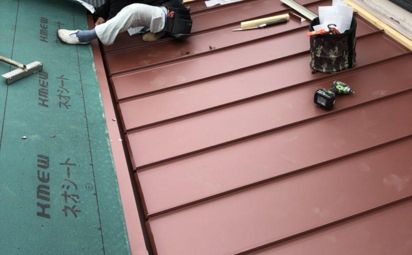 愛知県豊田市 屋根工事 屋根カバー工法 重ね葺き工事 ガルバリウム鋼板
