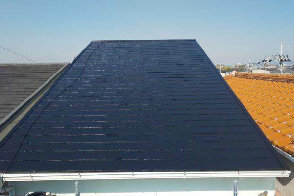 愛知県豊田市 屋根工事 屋根塗装 遮熱塗料 アステック スーパーシャネツサーモ (2)