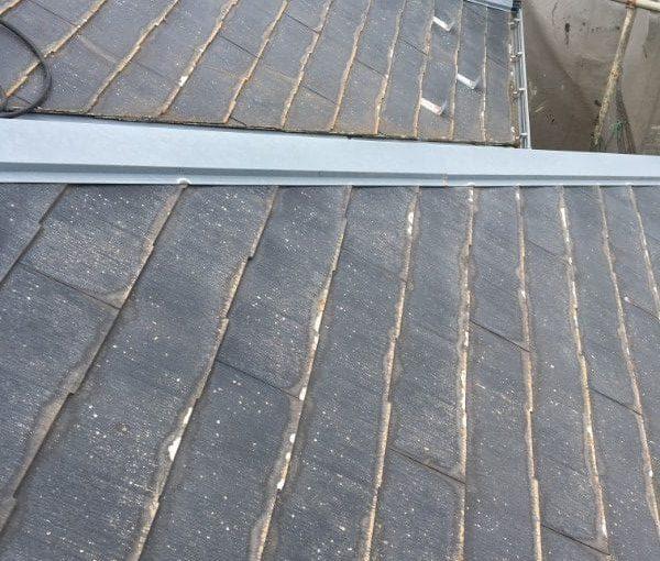 愛知県豊田市 屋根工事 屋根カバー工法(重ね葺き工法) ベランダ防水工事 FRP防水工事 (1)