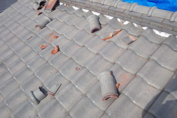 愛知県みよし市 屋根工事 屋根葺き替え工事 ガルバリウム鋼板製横葺き屋根 (2)