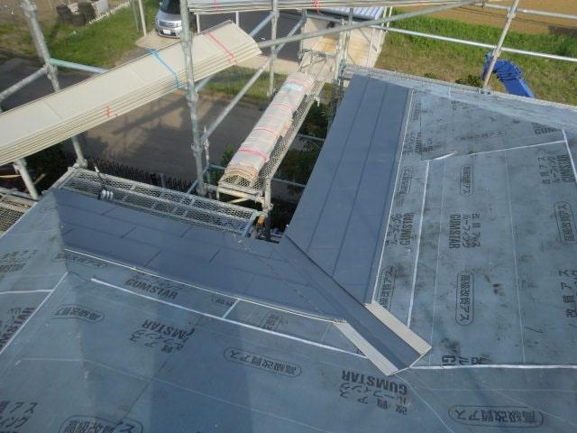みよし市 屋根工事 屋根の葺き替え工事 外壁張り替え工事 雨樋交換 (2)-min