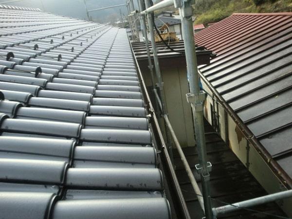 豊田市 屋根工事 屋根葺き替え工事 和形瓦から洋瓦へ (3)-min