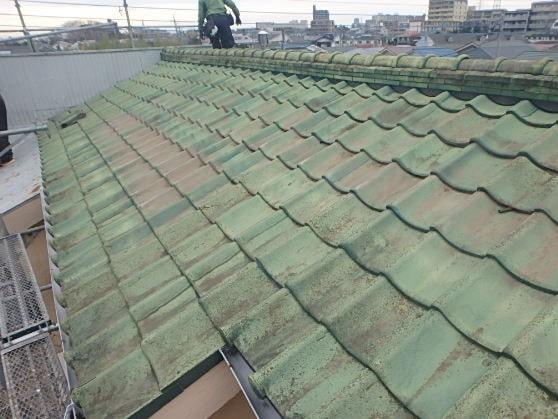 豊田市 屋根工事 屋根葺き替え工事の工程 瓦屋根からガルバリウム鋼板に (1)-min