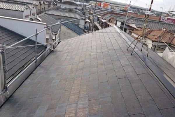 みよし市 屋根工事 屋根葺き替え工事 雨漏り 化粧スレートからガルバリウム鋼板へ (1)-min