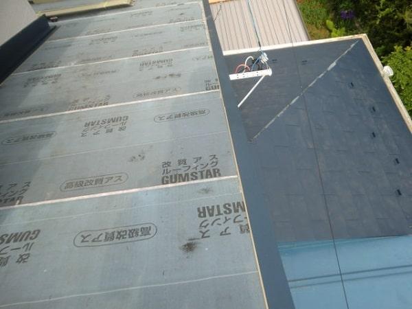 豊田市 屋根工事 屋根葺き替え工事 瓦屋根からガルバリウム鋼板へ (1)-min