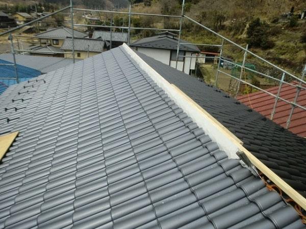豊田市 屋根工事 屋根葺き替え工事 和形瓦から洋瓦へ (2)-min