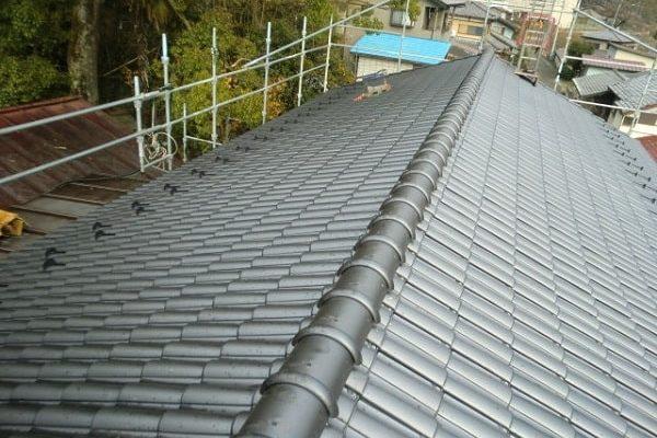 豊田市 屋根工事 屋根葺き替え工事 和形瓦から洋瓦へ (1)-min