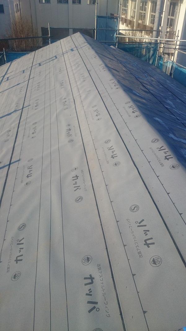 豊田市 屋根工事 重ね葺き工事(屋根カバー工法) ケイミュー コロニアルクァッド (2)