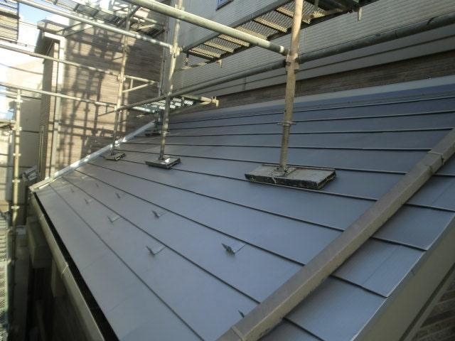 みよし市 屋根工事 屋根重ね葺き工事(屋根カバー工法) ガルバリウム鋼板 (3)-min