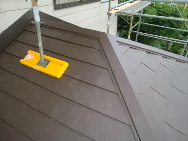 豊田市 屋根工事 屋根葺き替え工事 貫板、棟板金を取り付け 完工 (1)-min