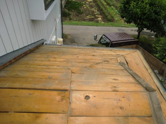 豊田市 屋根工事 屋根葺き替え工事 入母屋造り屋根 撤去~ルーフィング (3)-min